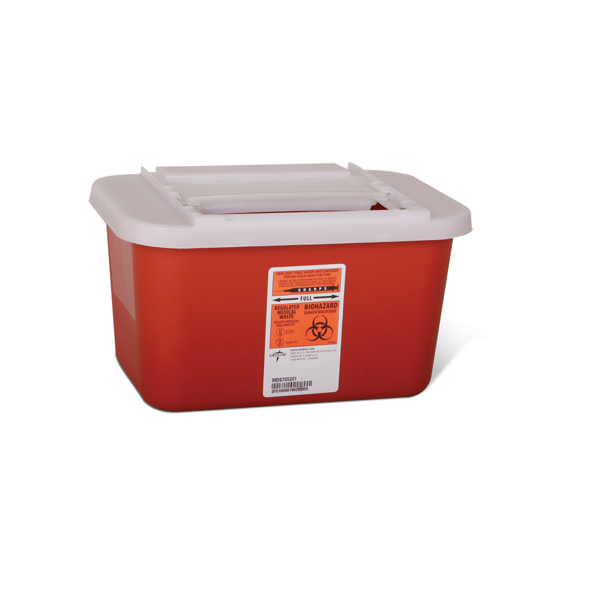 MedLine - Sharps Container 1 Galon Red - MDS-7052011Product Page | More