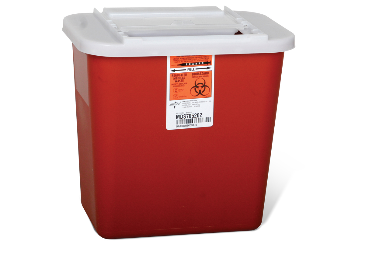 MedLine - Sharps Container 2 Galon Red - MDS-705202Product Page | More