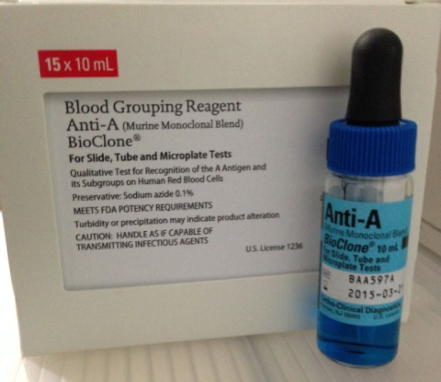 ANTI-ABLOOD GROUP AND TYPEBLOOD GROUPING REAGENT FOR A