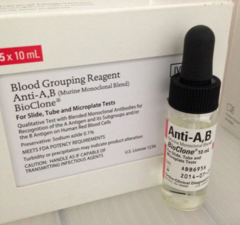 ANTI-ABBLOOD GROUP AND TYPEBLOOD GROUPING REAGENT FOR O