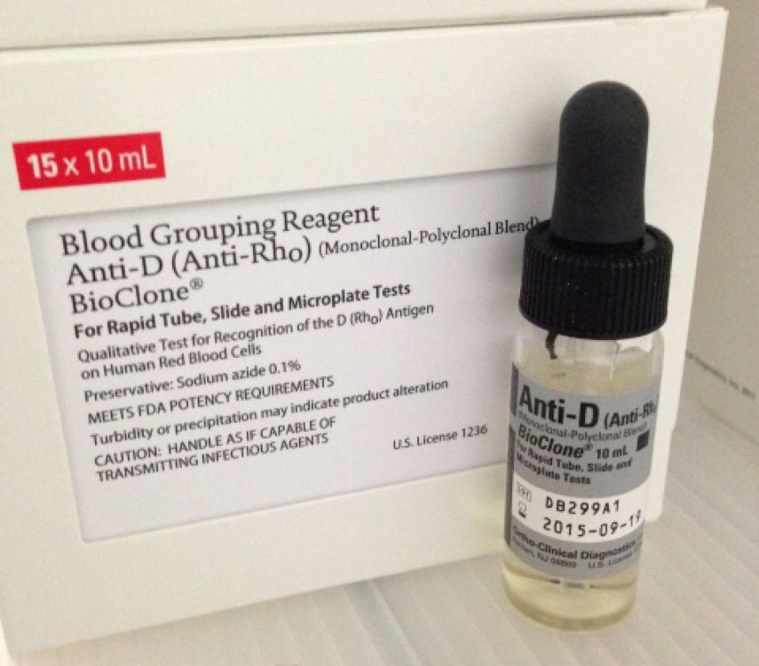 ANTI-DBLOOD GROUP AND TYPEANTI-D BLOOD GROUPING REAGENT