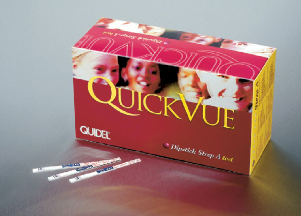 Quidel - Quick Vue Dipstick Strep ASEROLOGY KITSEROLOGY KIT for Detection of Group A Streptococcal AntigenProduct Page