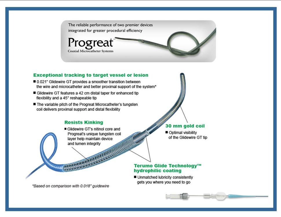 PROGREATTERUMOMICROCATHETERCOAXIAL MICROCATHETER SYSTEMSProduct Page | PDF