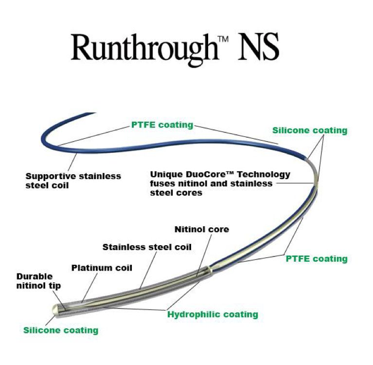 RUNTHROUGHTERUMOGUIDING CATHETERSCORONARY GUIDEWIREProduct Page | PDF